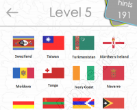 Flags Quiz Answers: Level 5 Part 1