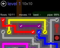 Flow Bridges 10×10 Mania Pack – Cheat / Walkthrough / Solutions