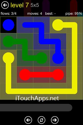 Flow Regular Pack 5 x 5 Level 7 Solution