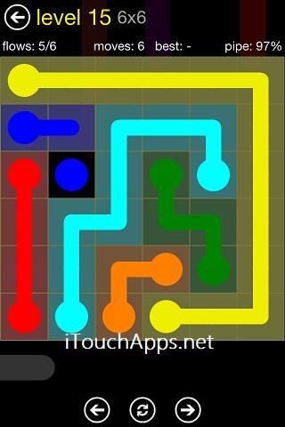 Flow Regular Pack 6 x 6 Level 15 Solution