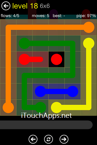 Flow Regular Pack 6 x 6 Level 18 Solution