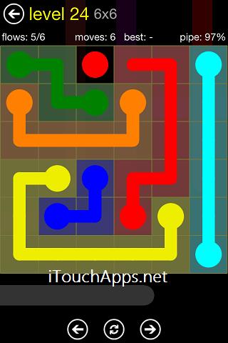 Flow Regular Pack 6 x 6 Level 24 Solution