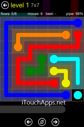 Flow Regular Pack 7 x 7 Level 1 Solution