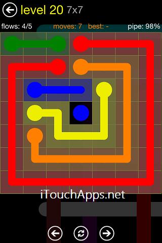 Flow Regular Pack 7 x 7 Level 20 Solution