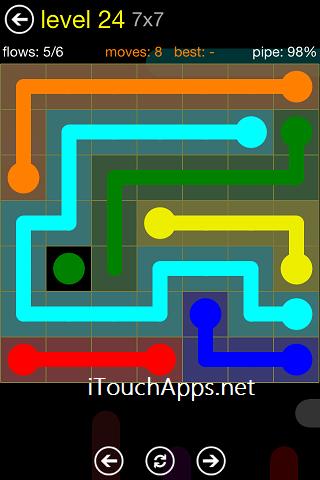 Flow Regular Pack 7 x 7 Level 24 Solution