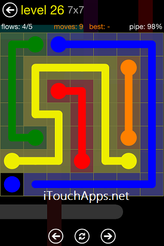 Flow Regular Pack 7 x 7 Level 26 Solution