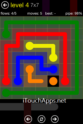 Flow Regular Pack 7 x 7 Level 4 Solution