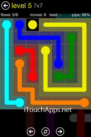 Flow Regular Pack 7 x 7 Level 5 Solution