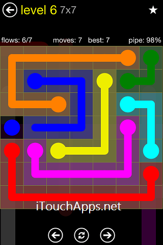 Flow Regular Pack 7 x 7 Level 6 Solution