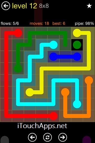 Flow Regular Pack 8 x 8 Level 12 Solution