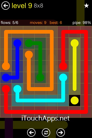 Flow Regular Pack 8 x 8 Level 9 Solution