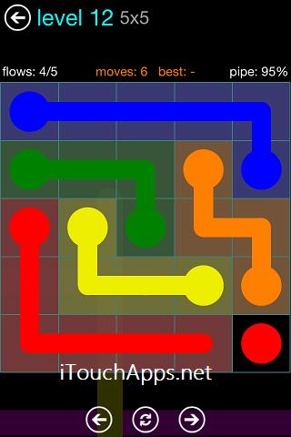 Flow Blue Pack 5 x 5 Level 12 Solution