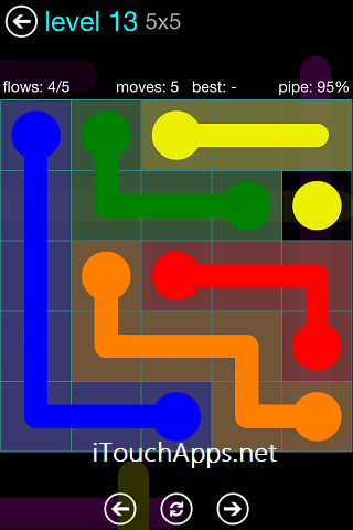 Flow Blue Pack 5 x 5 Level 13 Solution