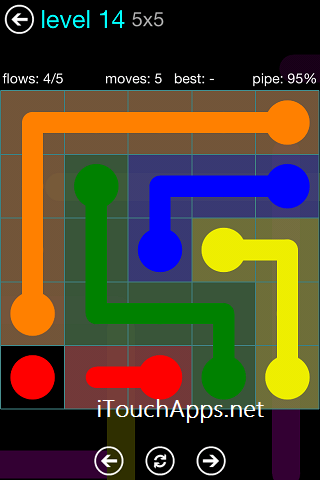 Flow Blue Pack 5 x 5 Level 14 Solution