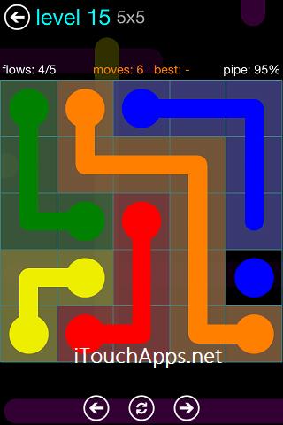 Flow Blue Pack 5 x 5 Level 15 Solution