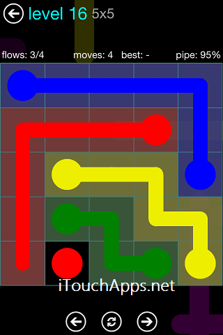Flow Blue Pack 5 x 5 Level 16 Solution