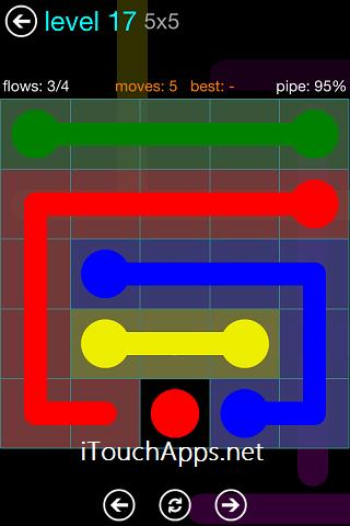 Flow Blue Pack 5 X 5 Level 17 Solution