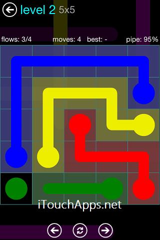 Flow Blue Pack 5 x 5 Level 2 Solution