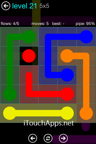 Flow Blue Pack 5 x 5 Level 21 Solution