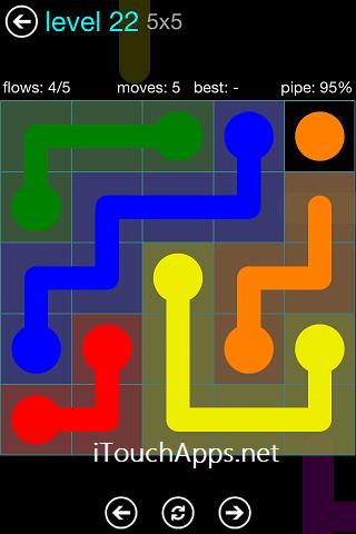 Flow Blue Pack 5 x 5 Level 22 Solution