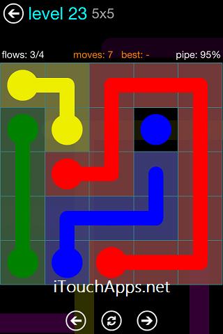 Flow Blue Pack 5 x 5 Level 23 Solution