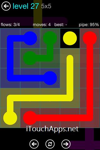 Flow Blue Pack 5 x 5 Level 27 Solution