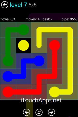 Flow Blue Pack 5 x 5 Level 7 Solution