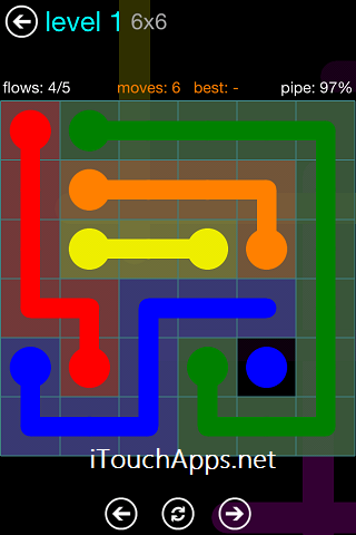 Flow Blue Pack 6 x 6 Level 1 Solution