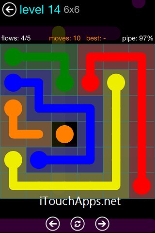 Flow Blue Pack 6 x 6 Level 14 Solution