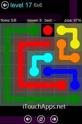 Flow Blue Pack 6 x 6 Level 17 Solution