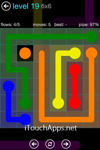 Flow Blue Pack 6 x 6 Level 19 Solution