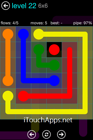 Flow Blue Pack 6 x 6 Level 22 Solution