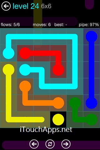 Flow Blue Pack 6 x 6 Level 24 Solution
