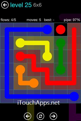 Flow Blue Pack 6 x 6 Level 25 Solution