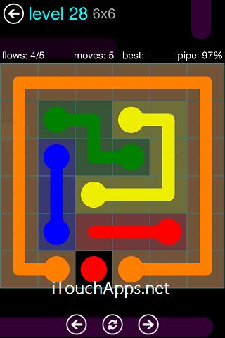 Flow Blue Pack 6 x 6 Level 28 Solution