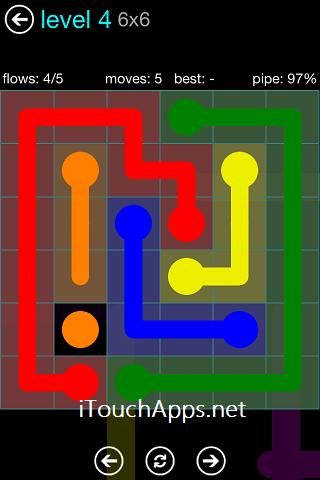 Flow Blue Pack 6 x 6 Level 4 Solution