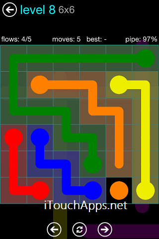 Flow Blue Pack 6 x 6 Level 8 Solution