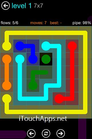 Flow Blue Pack 7 x 7 Level 1 Solution