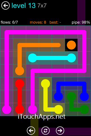 Flow Blue Pack 7 x 7 Level 13 Solution