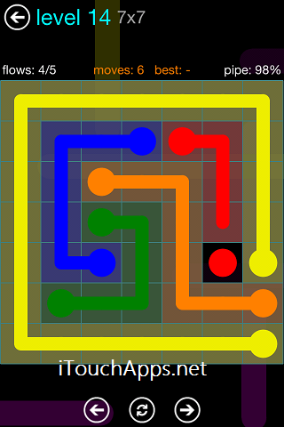 Flow Blue Pack 7 x 7 Level 14 Solution