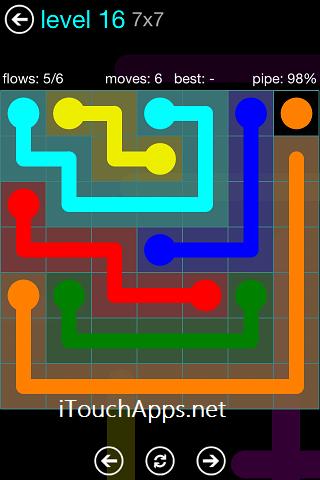 Flow Blue Pack 7 x 7 Level 16 Solution