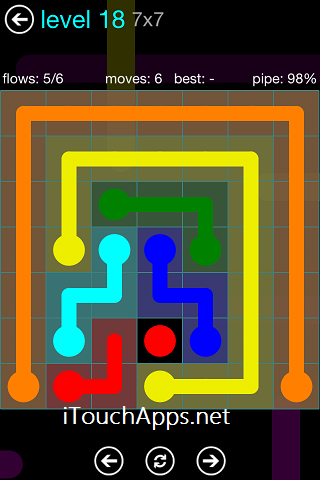 Flow Blue Pack 7 x 7 Level 18 Solution