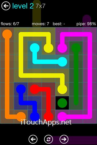 Flow Blue Pack 7 x 7 Level 2 Solution