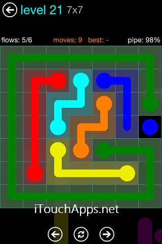 Flow Blue Pack 7 x 7 Level 21 Solution