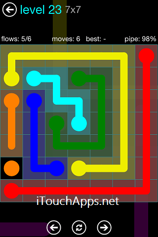 Flow Blue Pack 7 x 7 Level 23 Solution