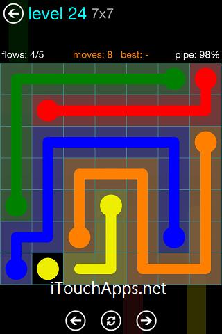 Flow Blue Pack 7 x 7 Level 24 Solution