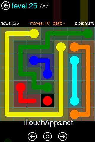 Flow Blue Pack 7 x 7 Level 25 Solution