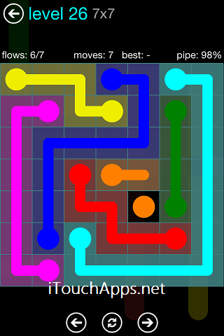 Flow Blue Pack 7 x 7 Level 26 Solution