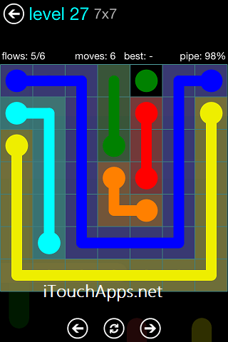 Flow Blue Pack 7 x 7 Level 27 Solution