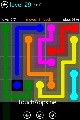 Flow Blue Pack 7 x 7 Level 29 Solution